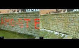 Čištění ploch a odstranění graffiti