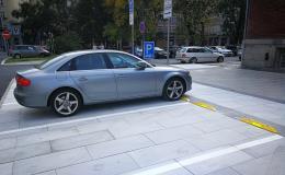 Parkovací dorazy pro parkoviště, dobíjecí stanice, garáže