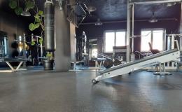 Gumová modulární puzzle podlaha do fitness a posiloven