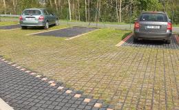 Zatravňovací dlažba pro venkovní parkoviště