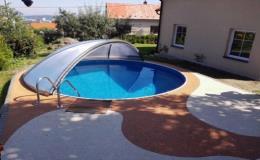 Kruhové zastřešení bazénů - zakázková výroba