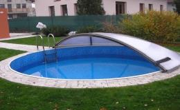 Polykarbonátový kryt na bazén - výroba na míru včetně montáže