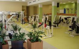 Fitness sál pro zpevnění postavy