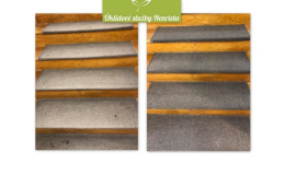 Vyčištění koberečků na schodech