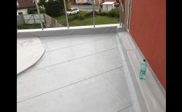 izolace terasy, balkonu PVC fólií - Zlínský kraj