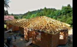 Výroba, montáž - krovy a vazníky, dřevěné nosné konstrukce