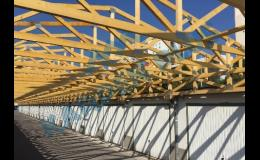 Nosné konstrukce z dřevěných příhradových vazníků