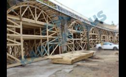 Příhradové ramenáty pro formy mostních konstrukcí,