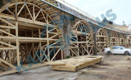 Tvorba betonových forem pomocí příhradových ramen