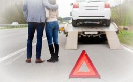 Odtah vozidel po nehodě, poruše
