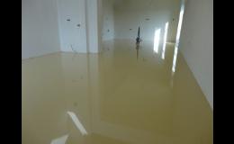 Designové lité podlahy v rodinných domech
