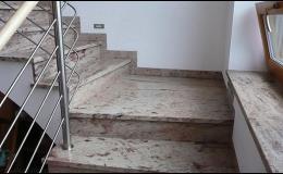 Realizace kamenného schodiště