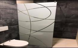 Zakázková výroba skleněných sprchových koutů, střech - grafosklo Veselí nad Moravou