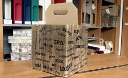 Odolný beerbox z kartonu pro 4 kousky lahví