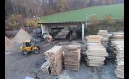 Palety a dřevěné bedny, pila Opava
