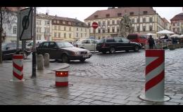 Městský mobiliář - pevné sloupy