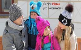 Originální pletené čepice pro celou rodinu
