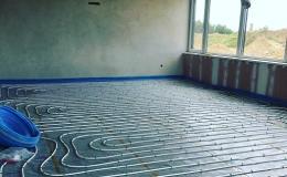 Realizace podlahového vytápění Třebíč, Velké Meziříčí