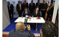 Návštěva prezidenta v rámci podpisu smlouvy