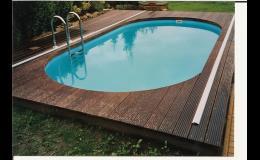 Oválný bazén Praha