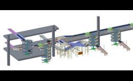 Model pomocné sestavy, plošina