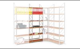 Úložné regály do kanceláři či skladu