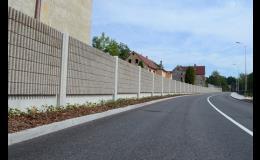 Protihlukové stěny pro silnice a dálnice