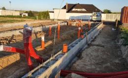 Realizace ležaté kanalizace na RD v Sazovicích