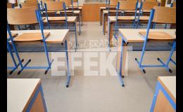 realizace podlahy ve škole