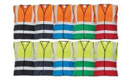 Reflexní vesty v různobarevném provedení