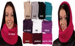Pletené zimní doplňky - šály, rukavice e-shop