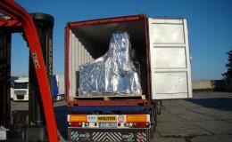 Exportní balení strojního zařízení