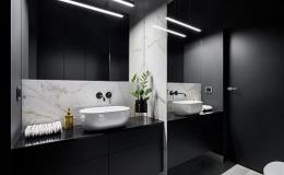 Praktické skleněné obklady do koupelen