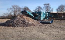 Recyklace stavebních odpadů, drcení a třídění Mníšek pod Brdy