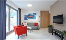 Obývací pokoj apartmánu Terasy Cafe