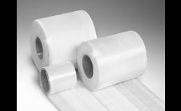 tkané, skelné a rovingové pásky