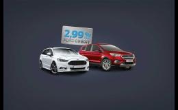 100% výkon 2,99% úrok. Ford. Když potřebujete jezdit.   FORD CREDIT