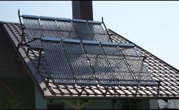Sluneční kolektory včetně nosné konstrukce