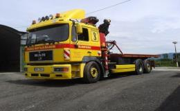 Auto s hydraulickou rukou - přeprava strojů, stavebního materiálu Šumperk