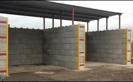 Zastřešené boxy z betonových bloků