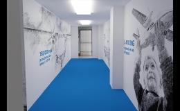 Velkoformátový tisk - tapety, polepy výloh, prodejen, podlah