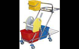 Prodej profesionálních úklidových vozíků s velkou odkládací plochou přes e-shop