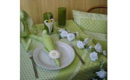 Textilní dekorace - kolekce zelené jaro