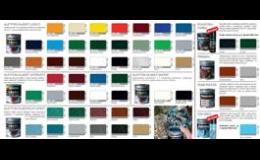 Velký výběr barev a nátěrů dle vzorníku