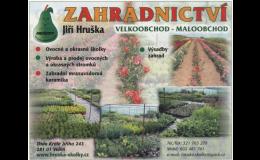 Pěstování – ovocné stromky, okrasné stromy a keře v širokém sortimentu.