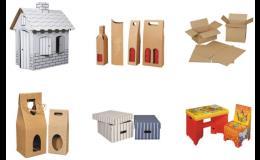 dárkové obaly, stěhovací krabice, krabice na hračky