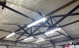Zateplení střechy haly PUR pěnou