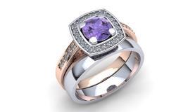 Exkluzivní prsteny s drahokamy podle 3D návrhu