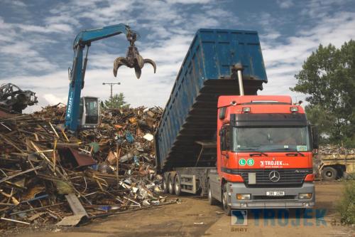Trojek, a.s. šrotiště - ekologické zpracování kovů
