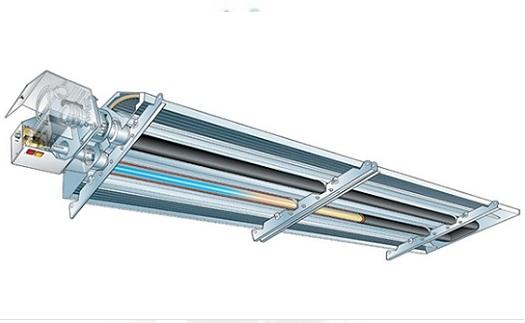 Trubkové plynové infrazářiče Reznor